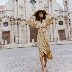Faithfull the Brand Ruffle Wrap skirt -M